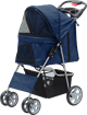 PAWISE Pet Stroller with 4 Wheels-Blue
